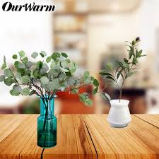 2019 ourwarm artificial fake plant olive eucalyptus branch green leaves bouquet real touch diy party garland home wedding decoration from rosaling