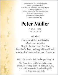 Traueranzeigen von Peter Müller   Trauer.HNA.de