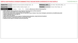 maintenance worker swimming pool resumejpg image format   maintenance worker swimming pool resume