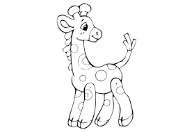 Small Picture Printable Giraffe Coloring Pages for Free Download
