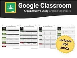 best english language arts templates for google classroom argumentative essay graphic organizers for google classroom