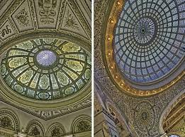 the domes in the gar memorial hall and preston bradley hall the latter the world s