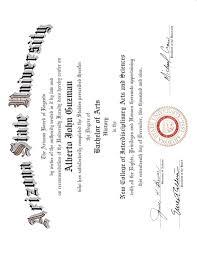 asu ba diploma