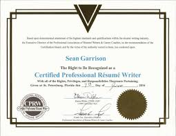 Certifiedsional Resume Writer Cprw Certificate Resumes Essays On