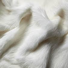 himalayan goatskin rug shorn white
