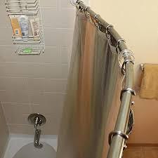 bowed shower curtain rod ideas the decoras jchansdesigns
