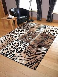 tiger leopard animal print hall runners small extra large long carpet rugs