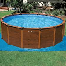 Swimming Pool Wooden Frame Intex Swimming Pool For Above Ground
