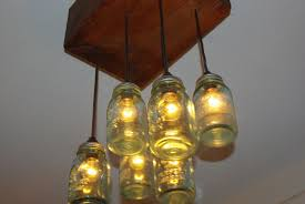 lamps made from mason jars mason jar chandelier 10 steps with pictures