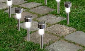 24 Pack Outdoor Stainless Steel Led Solar Power Lights Lawn Garden Lights Led Solar