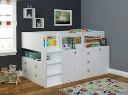 kids beds with storage boys. Plain Boys Excellent Cosmos White Childrens And Teenagers Midsleeper Cabin Bed With  Storage Within Kids Beds Attractive For Boys