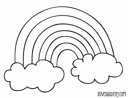Small Picture Rainbow A Rainbow Coloring Sheet Children Dash Pages Best For Kids