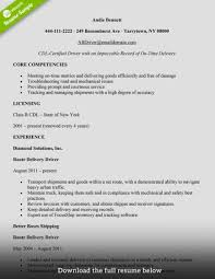 Driver Resume Resumes Truck Format Car Pdf In Word Thomasbosscher