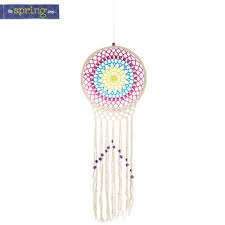 Hobby Lobby Dream Catcher Crocheted Dreamcatcher with Beads Hobby Lobby 100 24