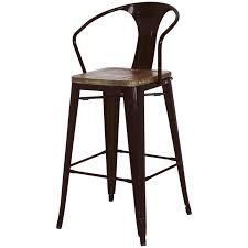 set of 4 bar stools. Metropolis Metal Bar Stool, Wood Seat, Black, Set Of 4 By NPD (New Pacific Direct) Stools H