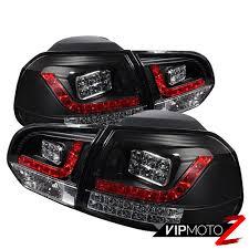 Mk6 Gti Brake Light Bulb Details About 2010 2014 Vw Golf Gti Mk6 Black Euro Led Signal Brake Rear Tail Light Brake Lamp