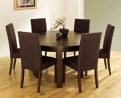... Dining Chairs, Awesome Brown Round Modern Wooden Cheap Dining Table And  Chairs Stained Design: