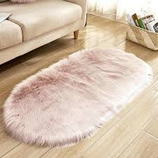 oval nursery carpet soft gy pink rugs for girls bedroom bedside rugs floor mat faux fur fluffy area plush sofa cover carpet and flooring companies check