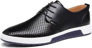 ZZHAP Men's Casual Oxford Shoes Breathable Flat ... - Amazon.com