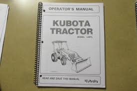 business industrial manuals books kubota products kubota l39 tl l 39 loader tractor owners maintenance manual from kubota