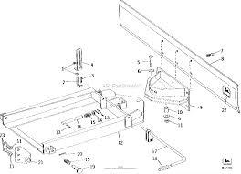 John deere parts diagrams john deere 43c 54c center blade 43c
