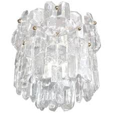 j t kalmar thick textured clear glass chandelier for