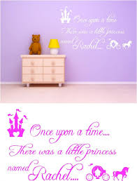once upon a time personalised kids vinyl wall art stickers graphics children s  on wall art childrens bedrooms uk with once upon a time personalised kids vinyl wall art stickers graphics