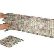 Kitchen Backsplash How To Install Mesmerizing Amazon Collections Etc Peel and Stick Backsplash Tiles Mosaic