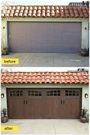 super charge your curb appeal instantly with a garage door makeover like this one featuring a clopay canyon ridge collecti