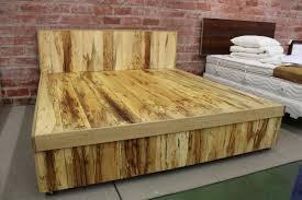 king bed frame wood. Image Of: Rustic Solid Wood King Size Bed Frame