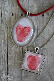 square and oval thumbprint heart pendants