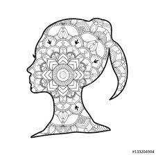 Vector Illustration Of A Dolphin Mandala For Coloring Book Delfino