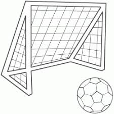 Small Picture Soccer Net Coloring Page Thema Voetbal football soccer