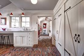 innovative red and white barn doors with laundry room barn doors design ideas