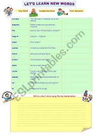 Vocab Building Worksheets English Worksheets Vocabulary Building
