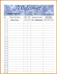 Printable Sign In Sheets For Doctors Office 24 sign in sheets Receipt Templates 1