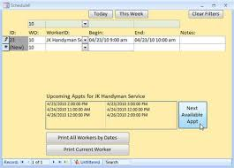 Ms Access Work Order Template Microsoft Access Work Order Seminar Tutorial