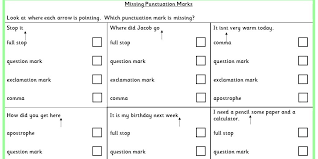Missing Punctuation Marks Ks1 Spag Test Practice Classroom Secrets
