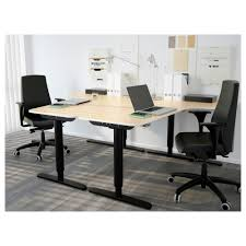 ikea desk office. Unique Desk Charming Idea Office Desks Ikea Bekant Corner Desk Right Sit Stand  Black Brown Intended I