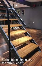 exterior straight staircase kit. stylish beach stairs, for much less! exterior straight staircase kit