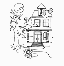 Free Printable Haunted House Coloring Pages For Kids For Haunted