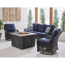 hanover orleans 4 piece woven fire pit