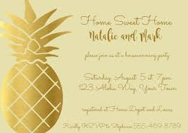 Pineapple Housewarming Invitation Template Postermywall