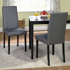 faux leather parson dining chair set of 2 walmart inside lovely leather dining chair modern pertaining