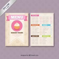 Menus Templates Free Classy Bakery Menu Template Free Downloads Pinterest Bakery Menu