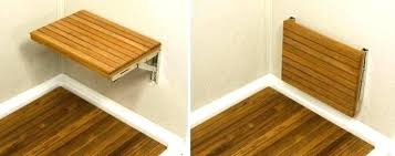 fold down benches up kitchen table photo 5 bench seat hardware out for shower fascinating an