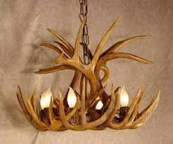 shed deer antler chandelier