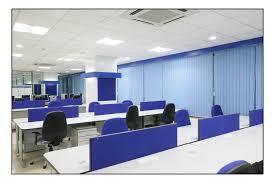 sleek office furniture. calming blue office furniture pod design and bright ceiling light sleek