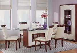 Sofia Vergara Savona Ivory 5 Pc Rectangle Dining Room with Glass