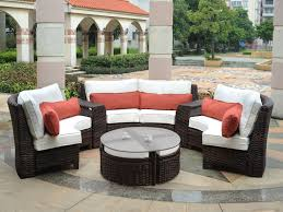 Patio Furniture Sofa Awesome Fiji Curved Outdoor Resin Wicker Patio  Sectional